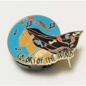 """Magical Musical Moments No. 65B (Teal) - Pocahontas - """"Colors of the Wind"""" pin"""