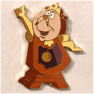 WDCC Great Wide Somewhere Pin Set (3/ 4/ or 6) - Cogsworth pin