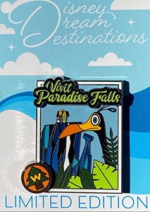 Disney Dream Destinations Visit Paradise Falls UP Kevin pin