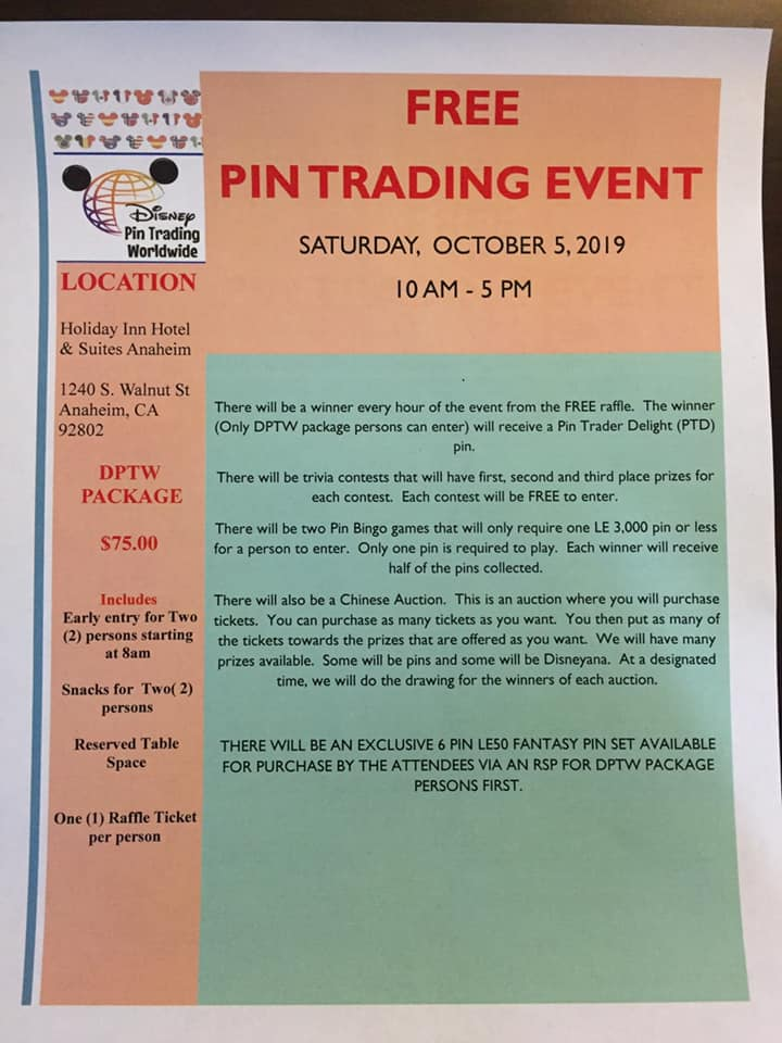 Pin Trading Event - Anaheim