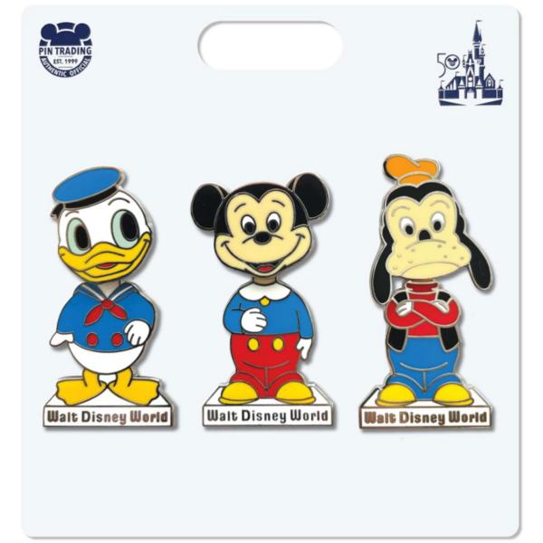 Mickey Bobble Head– Walt Disney World 50th Anniversary pin