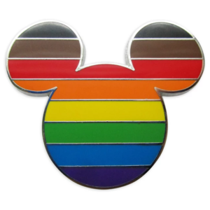 Mickey Mouse Icon Pin – Intersectional Flag – Rainbow Disney Collection pin