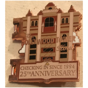 WDW's Hollywood Tower Hotel Twilight Zone Tower of Terror 25th Anniversary pin