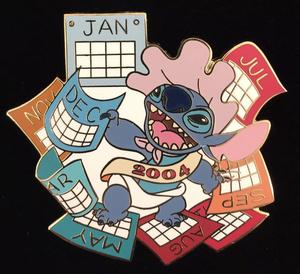 Stitch Calendar pin
