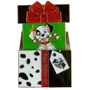 Happy Holidays 2017 - Dalmatian Pop Up Gift Box All Star Resort pin