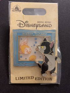 Hong Kong Disney Classic Figaro and Cleo pin
