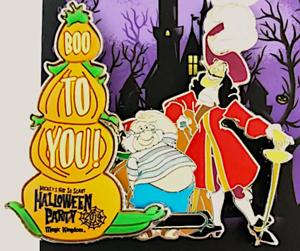 Captain Hook Halloween 2019 pin