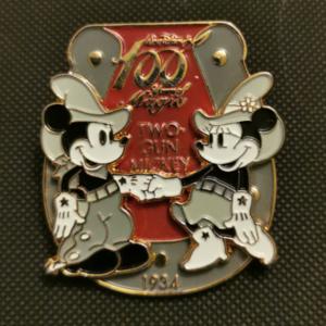 Walt Disney's 100 Years of Magic - Two Gun Mickey  pin