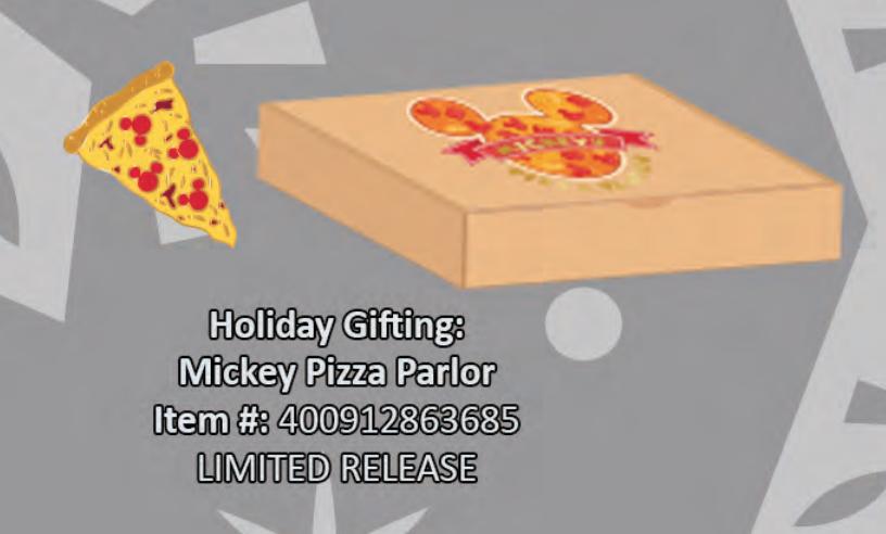 Mickey pizza parlor pin