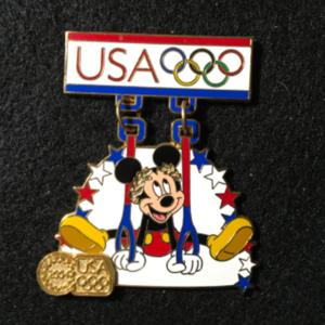USA 2004 Olympic Logo Mickey Rings pin