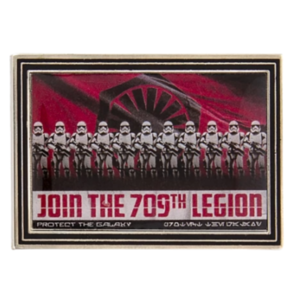 Join the 709th legion - First Order Propaganda Poster Mystery Pin Set – Star Wars: Galaxy's Edge pin
