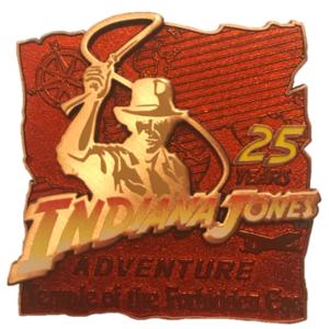 Indiana Jones Adventure - 25th Anniversary pin