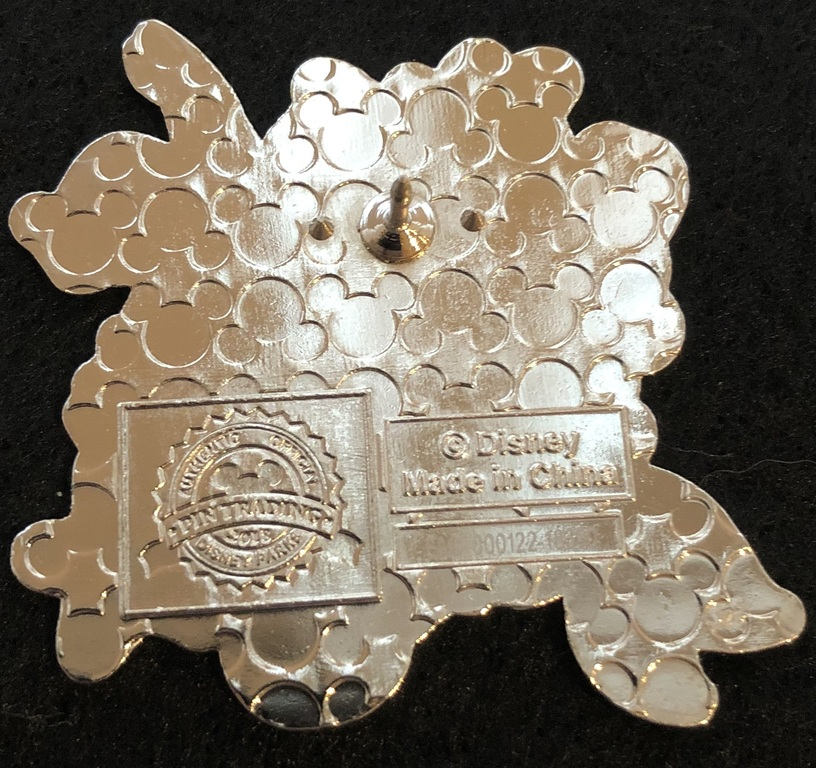 Waffling on the back of an official Disney Pin
