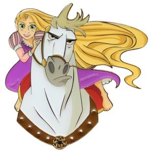 Rapunzel and Maximus - Artland - Princess and Horse pin