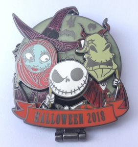 Lock, Shock, and Barrel as Sally, Jack, and Oogie Boogie pin