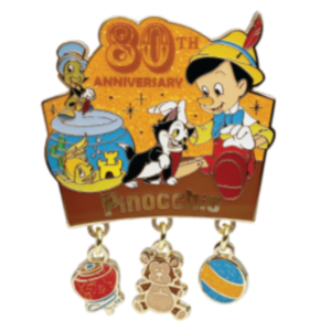 Pinocchio 80th Anniversary Dangler pin