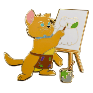 Toulouse at easel - Castle Creations and Co pin