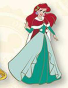 Ariel Christmas Cape pin