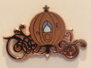Rose gold Cinderella coach pin