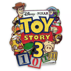 Toy Story 3 10th anniversary pin