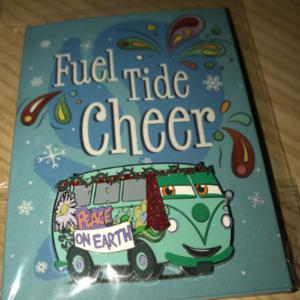 Fillmore Fuel Tide Cheer post card pin
