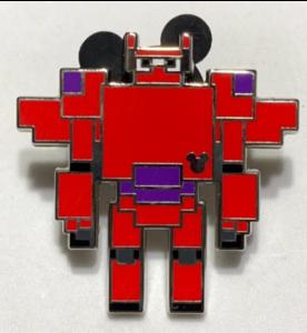 Armored Baymax 8-bit Hidden Mickey pin