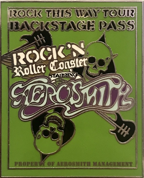 WDW - Rock 'n' Roller Coaster starring Aerosmith - Backstage Pass pin