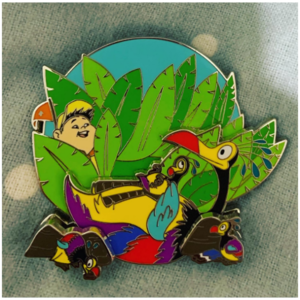 Kevin and chicks pin