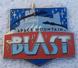 Space Mountain Blast - Disneyland Mascots pin