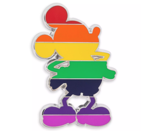 Mickey Mouse Pride Rainbow pin