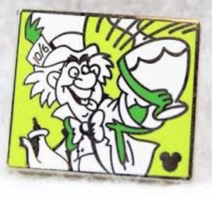 Mad Hatter - Hidden Mickey Comic pin