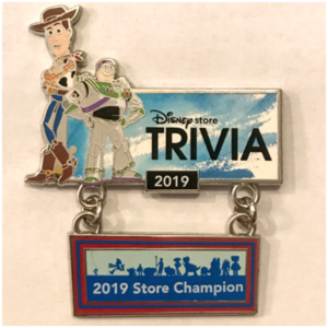 Disney Store Cast Member - Trivia Champion 2019 - Toy Story 4 - DS pin