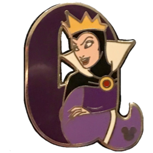 "DLR - 2011 Hidden Mickey - Alphabet Letters - ""Q"" for Queen (17 of 26) pin"