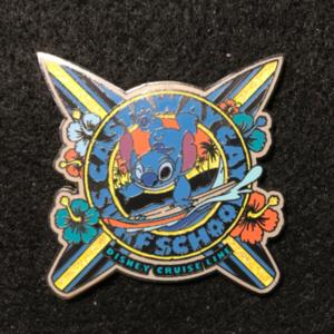 DCL Castaway Cay Surf School Stitch pin