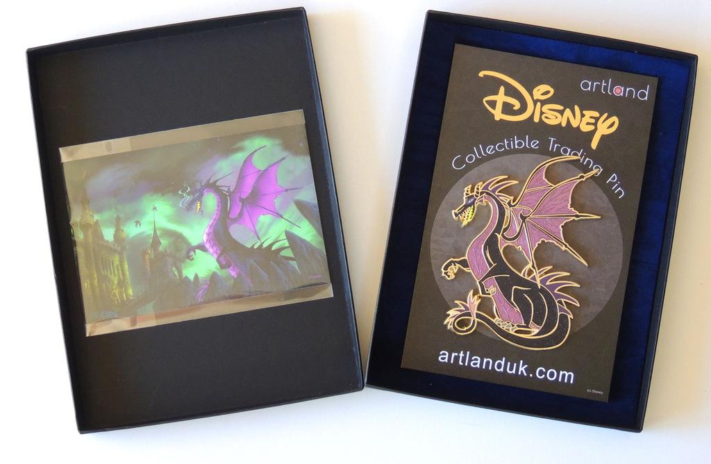Maleficent pin in presentation box
