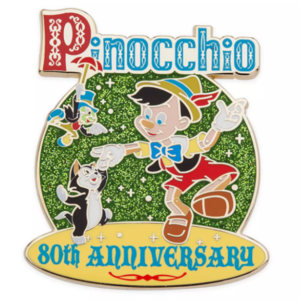 Pinocchio 80th anniversary pin
