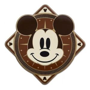 Brown Mickey Compass pin