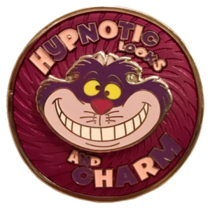 Oh My Disney - Alice in Wonderland Hatter Backer - Hypnotic Cheshire Cat Spinner pin