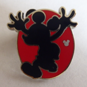 Hidden Mickey 2018 - Red Silhouette - Mickey Jumping pin