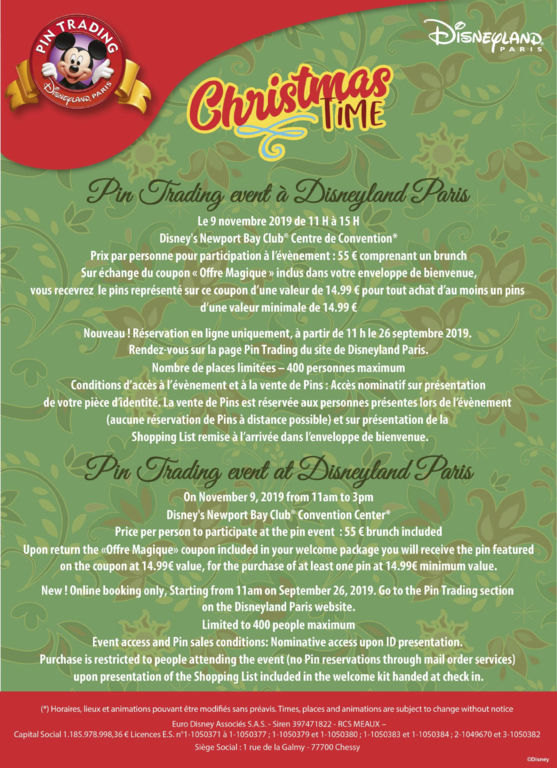 Flyer for the DLP Christmas pin brunch