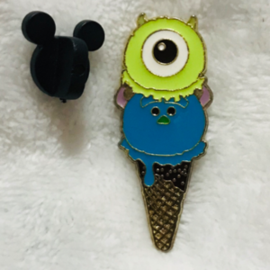 Mike and Sully - Tsum Tsum Ice Cream Cone pin