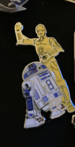 R2-D2 and C-3P0 pin