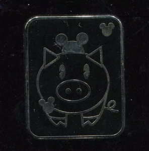 Pig - Hidden Mickey Mouse Ear Pets pin