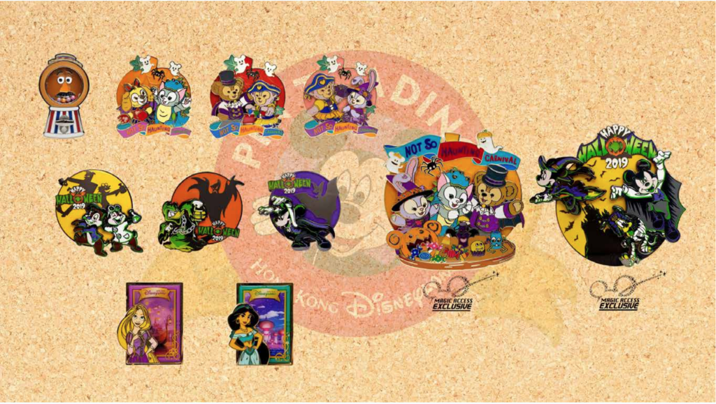 Hong Kong Disneyland pin releases October 2019