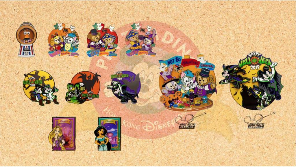Hong Kong Disneyland pin releases October 2019