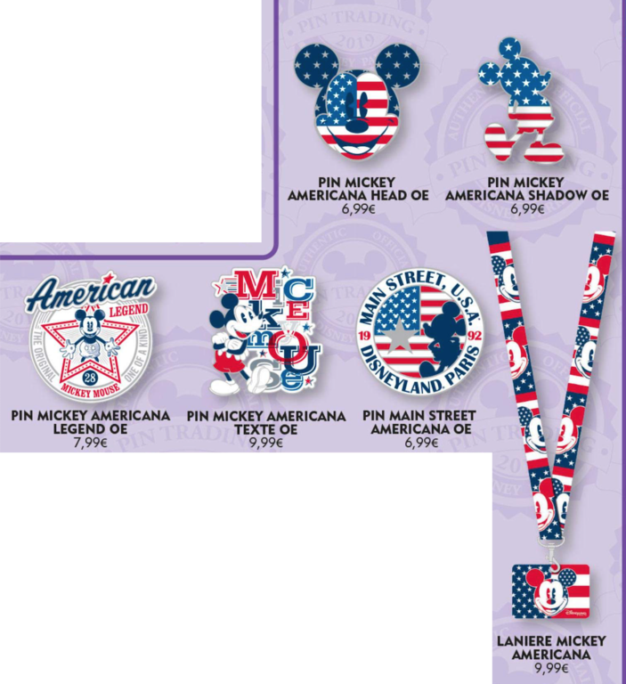 October 19th Mickey Americana pin releases