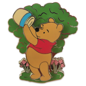 Pooh looking in a hunny pot - 55th anniversary pin