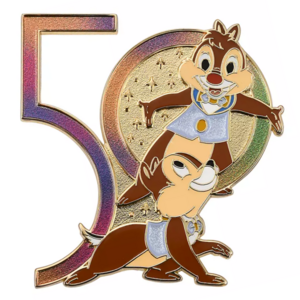 Chip and Dale iridescent 50 - Walt Disney World 50th Anniversary pin