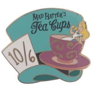 Mad Hatter's Tea Cups - Alice in Tea Cup - Disneyland Paris pin