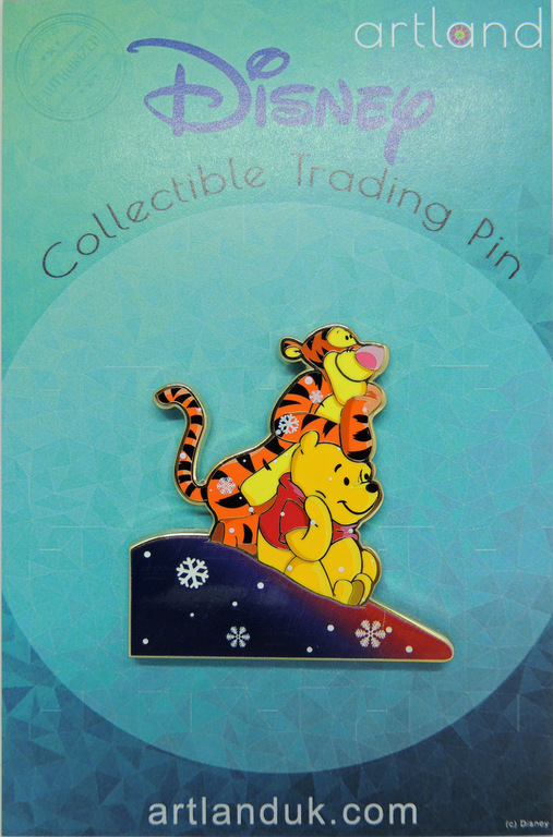 Tigger and Pooh winter pin